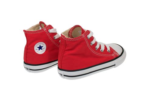 Toddler Shoes : Converse Hi Toddler Kids Infant Red Canvas Trainers