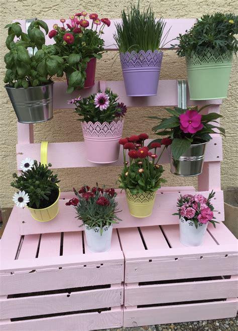 Paletten Blumen Wand by Europalette Bepflanzen Anleitung Wohn Design