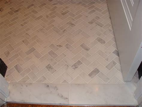 herringbone marble floor marble tile floor herringbone layout bath pinterest