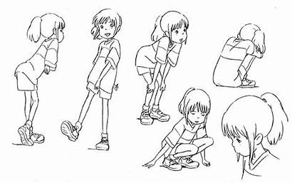 Spirited Away Character Ghibli Concept Studio Sheets