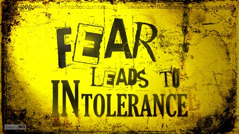 fear leads  intolerance quote text wallpaper  hd