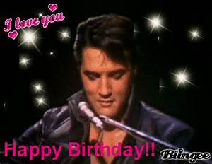 Happy Birthday! (Elvis pic) Picture #59456634 | Blingee.com