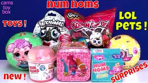 surprise toys lol pets dolls num noms squish dee lish