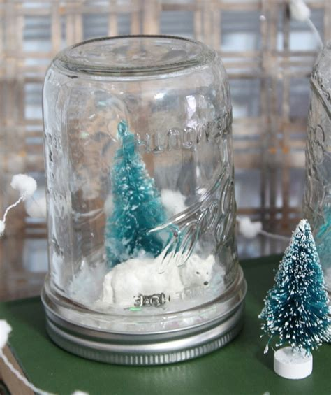 waterless snow globes kids craft  country chic cottage