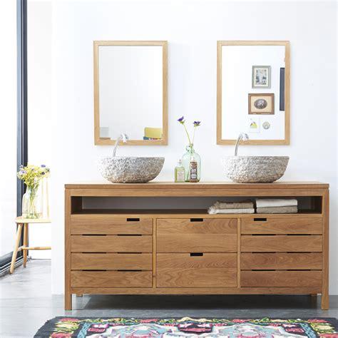 bureau console pas cher meuble sous vasque en chne massif pour salle de bain