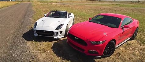 2015 Ford Mustang Gt Takes On Awd Jaguar F-type R With