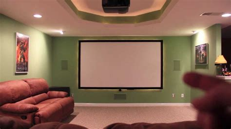 Diy Home Theater Screen Bathroom Sink And Mirror Mirrored Door Replacing Drain Pipe Plumb Tall Wall Cabinets Cabinet Counter Floor