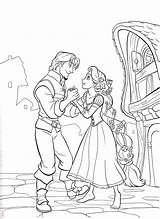 Rapunzel Coloring Pages Disney Colouring Tangled Sheets Printable Princess Adults Flynn sketch template