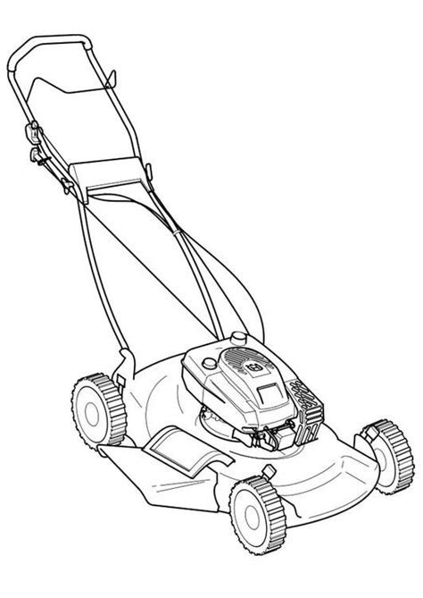 coloring page lawn mower coloring picture lawn mower