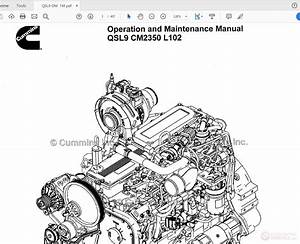 Cummins Qsl9 Cm2350 L102 Diesel Engine Operation And Maintenance Manual
