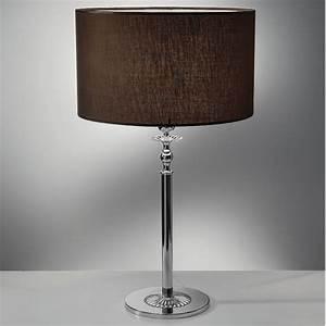 Abat Jour Design : klass lampada da tavolo comodino marrone con paralume moka ~ Melissatoandfro.com Idées de Décoration
