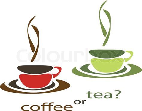 Kaffee oder Tee   Vektorgrafik   Colourbox