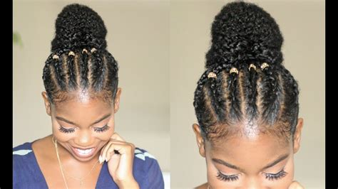 Braided Bun Style On Natural Hair Ft. Mielle Organics