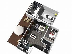 plan de maison moderne 3d With faire sa maison en 3d 0 faire le plan 3d de sa maison avec kazaplan par kozikaza