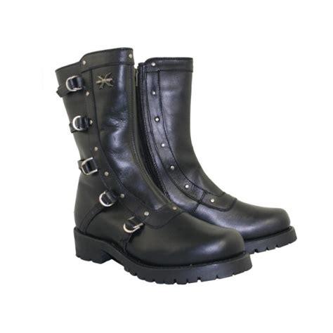 female motorbike boots women 39 s xelement black siren strap motorcycle boots