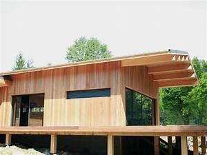 construction maison sur pilotis - maison ossature bois landes