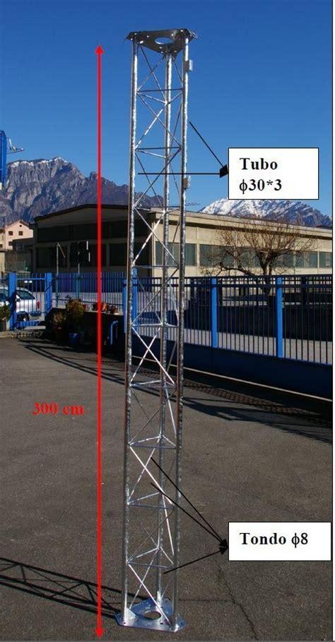 tralicci per antenne traliccio 30x30 rinforzato zincato a caldo sezioni di tre