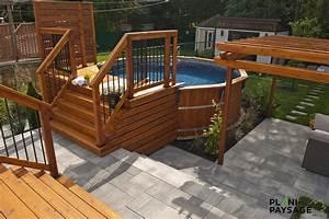 cour urbaine avec piscine hors terre With plan maison avec patio 18 fiorellino paysagiste galerie de nos realisations de