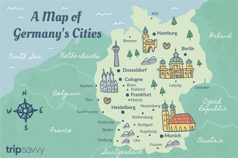 germany cities map  travel guide