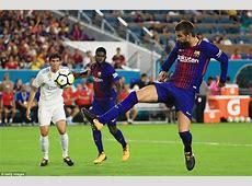 Real Madrid 23 Barcelona Gerard Pique scores winner