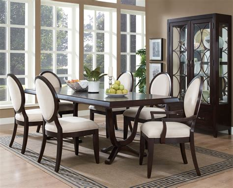 Dark Brown Dining Table And Chairs Modern Formal Dining