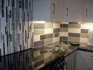 Linear cream gloss wall tile kitchen tiles from tile for Kitchen with wall tiles images