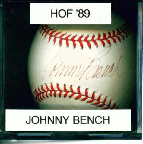 johnny bench autograph mitch s autographs johnny bench autographs