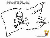 Pirate Coloring Flag Printable Skull Scurvy Yescoloring Costume sketch template