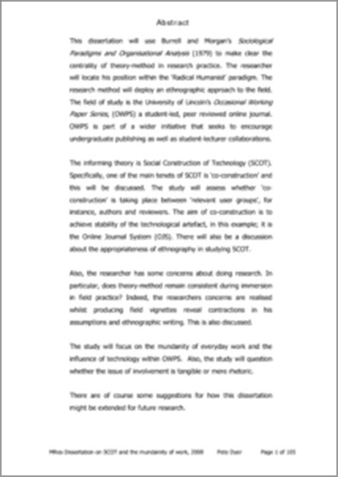 reflexive analysis essay