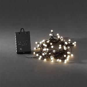 Weihnachtsbeleuchtung Mit Batterie Und Timer : konstsmide led lichterkette 80 globe led warmwei batteriebetrieb mit sensor und timer ~ Orissabook.com Haus und Dekorationen