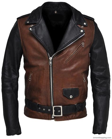 motorcycle jackets for men arrow custom made two tone vintage motorcycle leather