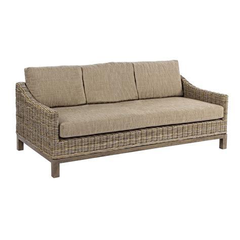 Divano Rattan - divano rattan intrecciato 3 posti divani etnici