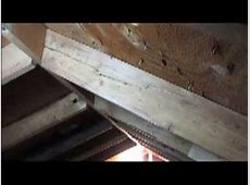 HOW TO REPAIR A SPLIT RAFTER YouTube