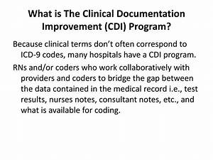 ppt clinical documentation improvement cdi powerpoint With clinical documentation improvement software