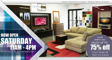 nj furniture showroom now open every saturday contempo