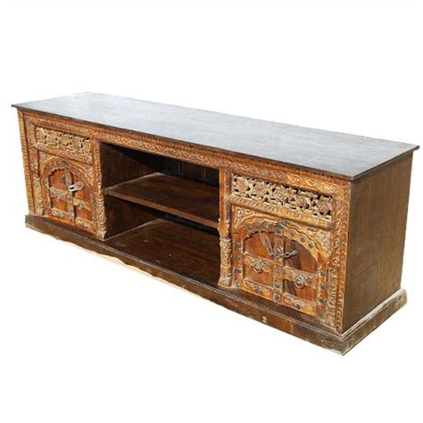 solid wood console cabinet palace gates double cabinet solid wood rustic tv media console