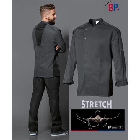 acheter veste de cuisine veste de cuisine grise libert 233 de mouvement manches longues