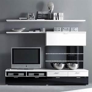 Tv Wand Weiß Hochglanz : tv wand batros 6 teilig wei schwarz hochglanz ~ Indierocktalk.com Haus und Dekorationen
