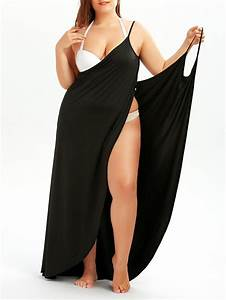 plus size beach wrap cover up dress in black 5xl With robe plage grande taille