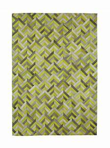 Tapis Jaune Maison Du Monde : tapis en cuir jaune 140 x 200 cm boomerang maisons du monde ~ Zukunftsfamilie.com Idées de Décoration
