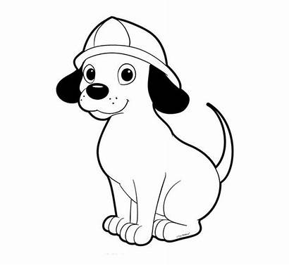 Dog Template Coloring Fire Preschool Printable Safety