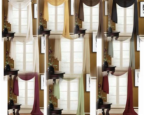 Scarf Drapes - valance scarf swag voile sheer curtain window