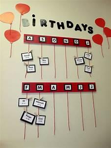 Elementary classroom birthday wall birthdays