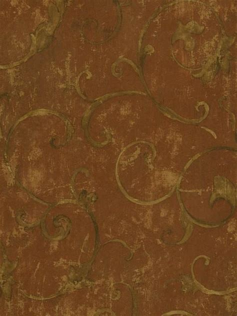 ntx red  brown texture scroll wallpaper