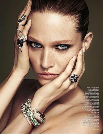 Bazaar Korea Models Jewelry Harpers Editorial Lesly