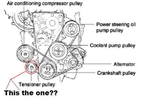 Accent Belt Diagram by Solved 2000 Hyundai Accent Lower Idler Pulley Fixya
