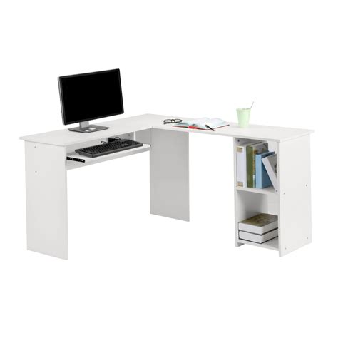 small white corner desk ebay langria wood l shape corner computer desk pc table