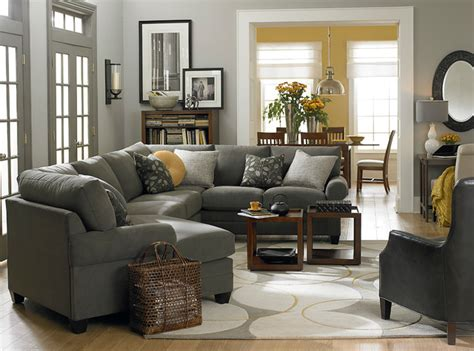 Gray Sectional Living Room Ideas by Hgtv Home Custom Upholstery Left Cuddler Sectional By