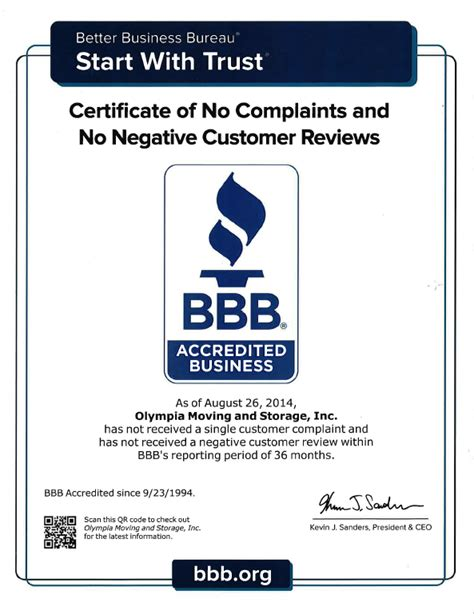company bureau choosing a better business bureau moving company