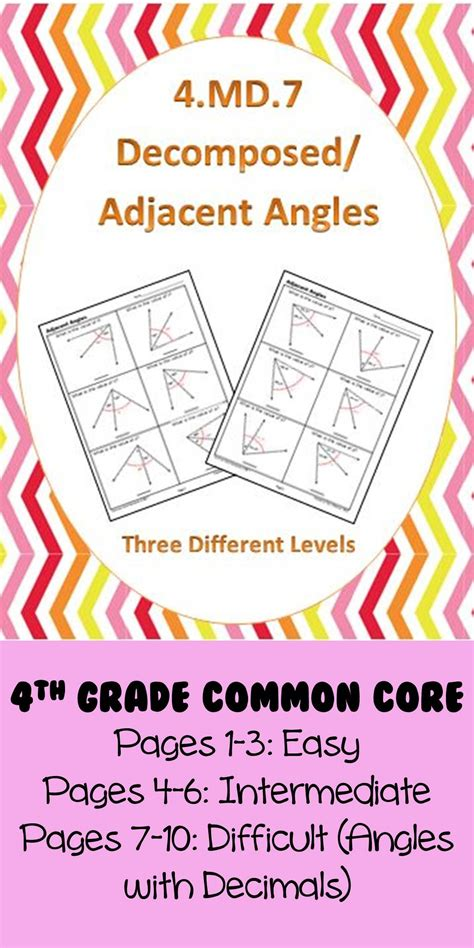 md common core math standards decomposed angles